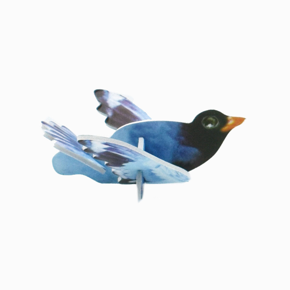 18pcs lot Mini Cartoon Birds Animal Model Paper 3D Puzzles Toys for Children Gift Intelligence Toys in Puzzles from Toys Hobbies
