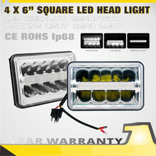 SLDX 4 x 6 Inch Led Headlight Bulbs Sealed Beam High Low Beam With Parking Light