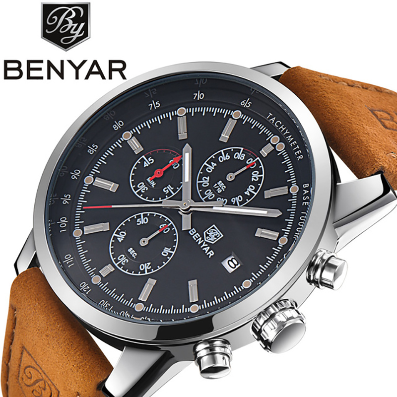 2018 BENYAR Men Watch Fashion Chronograph Sport Mens Watches Top Brand Luxury Military Quartz Watch Clock Relogio Masculino 2018 BENYAR Men Watch Fashion Chronograph Sport Mens Watches Top Brand Luxury Military Quartz Watch Clock Relogio Masculino