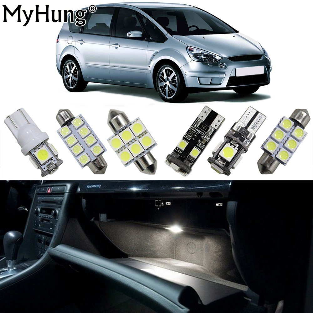 Dome Led Light For Ford S MAX Car Interior Replacement Bulbs Map font b Lamp b