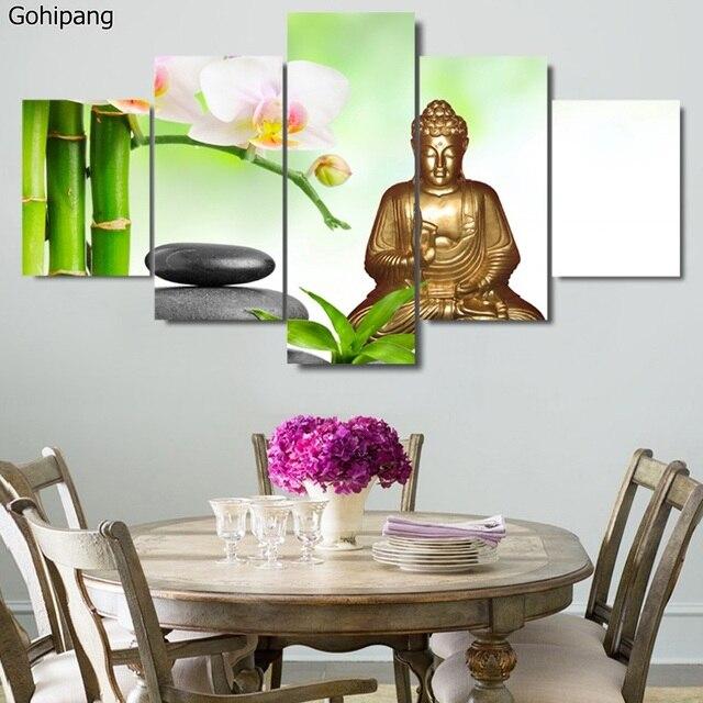 Unframed Buddha Leinwand Malerei 5 Stücke Wandkunst Dekoration ...