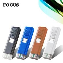 FOCUS  Plazmatic USB Recharge Windproof Eco-friendly Lighter Slim MINI Portable cigarette lighter Smoking Accessories