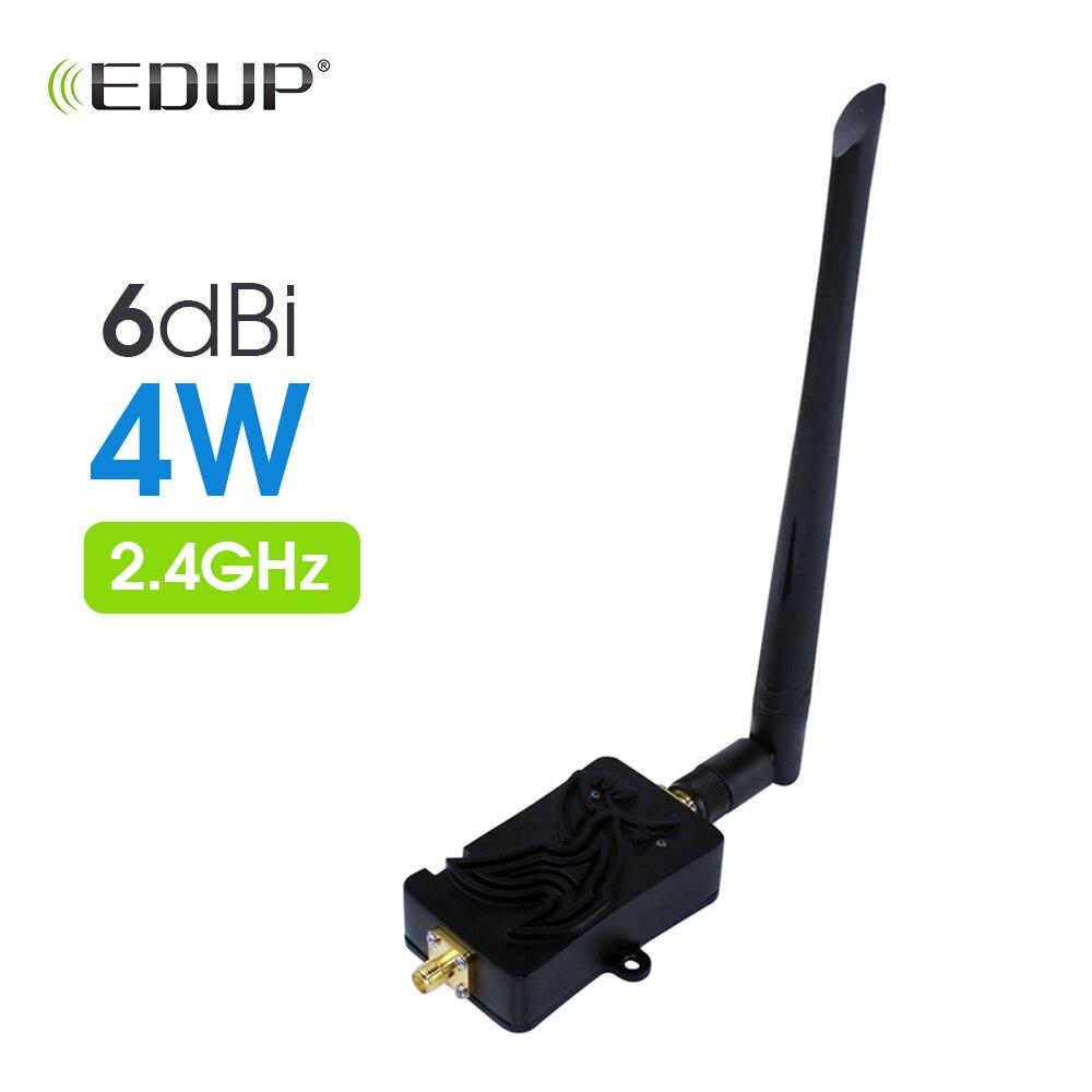 EDUP 4W 4000mW 802.11b/g/n Wifi Wireless Amplifier Router 2.4Ghz WLAN ZigBee BT WiFi Signal Booster With Antenna