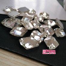 All Sizes Glass Cosmic shape Crystal Sew On Stone Flatback Sewing  rhinestones 2 holes Free Shipping Y1143 ba608b10e437