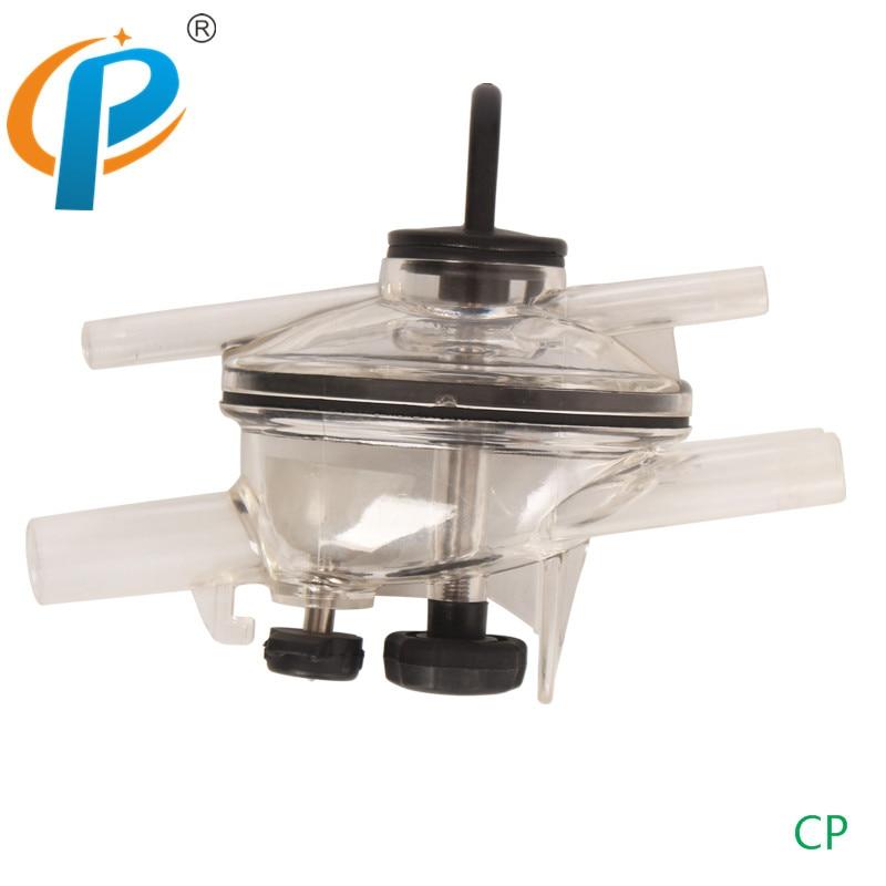 Garra de leche de cabra de plástico 120CC con una cubierta transparente para ordeñadora