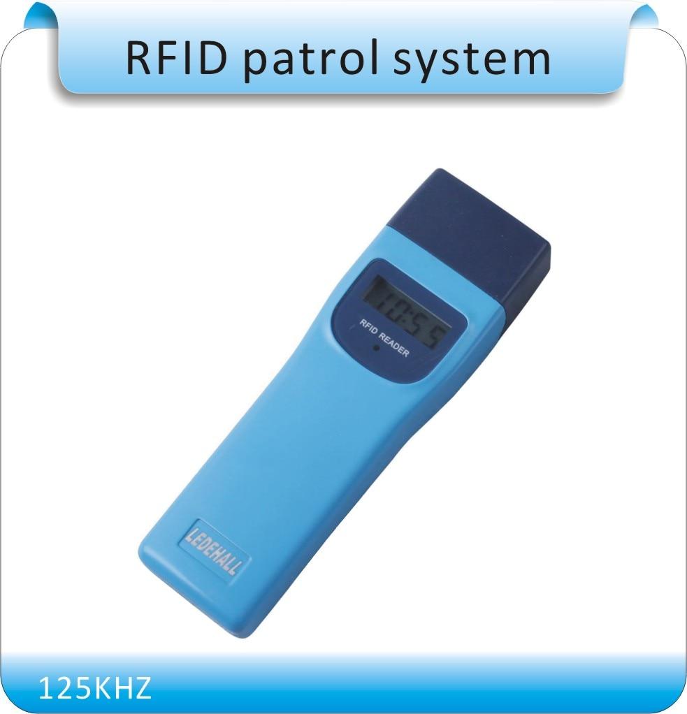 Free shipping LDH-868 RFID 125KHZ model guard patrol system,Patrolling rod,USB port , +10pcs point button English software 10pcs sample 125khz rfid abs waterproof patrol button id patrol point