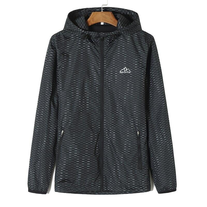 Куртка размера плюс 8XL 7XL 6XL 5XL 4XL, ветровка, мужские куртки, новинка 2019, весенне осенняя модная куртка, Мужская куртка с капюшоном - 4