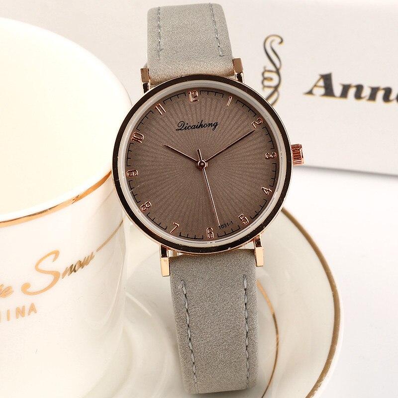 2019 New Casual Women's Watches Fashion Ladies Quartz Watch For Women Simple Exquisite Bracelet Gift Clock Leather Wristwatch