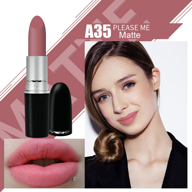 Top Quality MYG Matte Lipstick professional Lips Makeup Long-lasting Waterproof  Lipstick Red Nude ruby woo honey love Lipstick 5