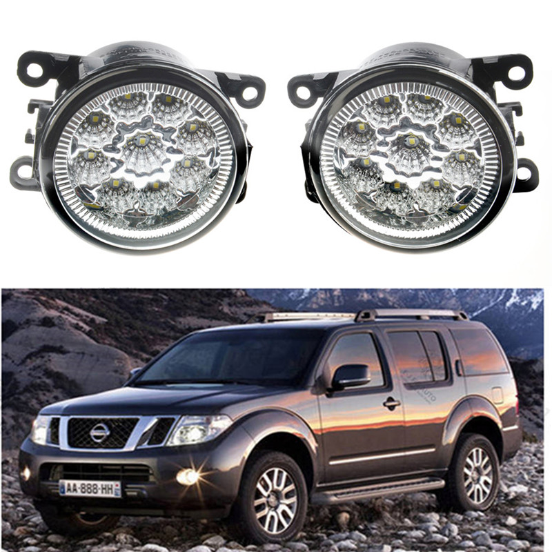 For NISSAN Navara D40 Pickup  2005-2015 Car styling front bumper LED fog Lights high brightness fog lamps 1set for lexus rx gyl1 ggl15 agl10 450h awd 350 awd 2008 2013 car styling led fog lights high brightness fog lamps 1set