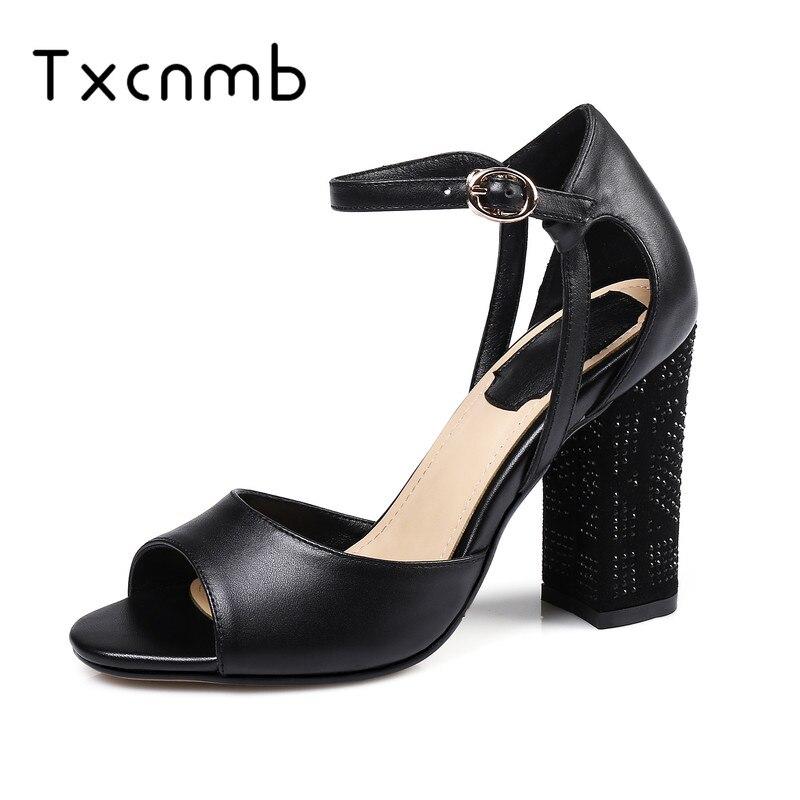 2d8df9f2635204 Base Pompes D'été Chaussures Cuir Mariage Mode Talons Nouvelle Sandales  Fête Femme Lacet Véritable Sexy ...