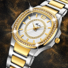 MISSFOX Fashion Designer Ladies 18K Gold Luxury Brand Diamond Women´s Quartz Watches