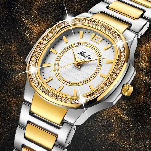 Mulheres Relógios Relógio de Forma Das Mulheres 2019 Designer de Genebra Senhoras Relógio Marca De Luxo de Quartzo Diamante Relógio De Pulso De Ouro Presentes Para Mulheres