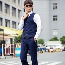 elegant fashion men suits vest slim fit groom tuxedos vest pure color custom made wedding groomsman prom dress vest