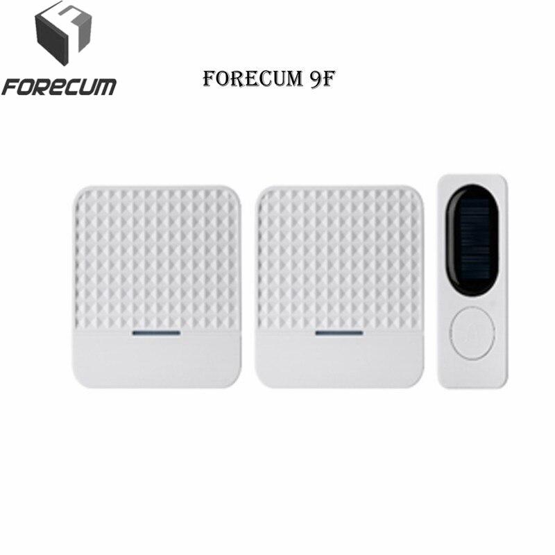 FORECUM 9 9F 9H Smart Wireless Doorbell Digital solar power adjustable volume Receivers transmitter Door Bell Button Intercom