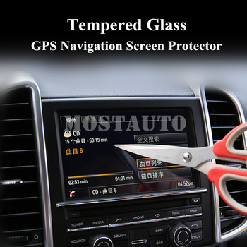 For Porsche Cayenne Tempered Glass GPS Navigation Screen Protector 2011-2015 1pcs Car Accessories Interior Car Decor Car Trim image