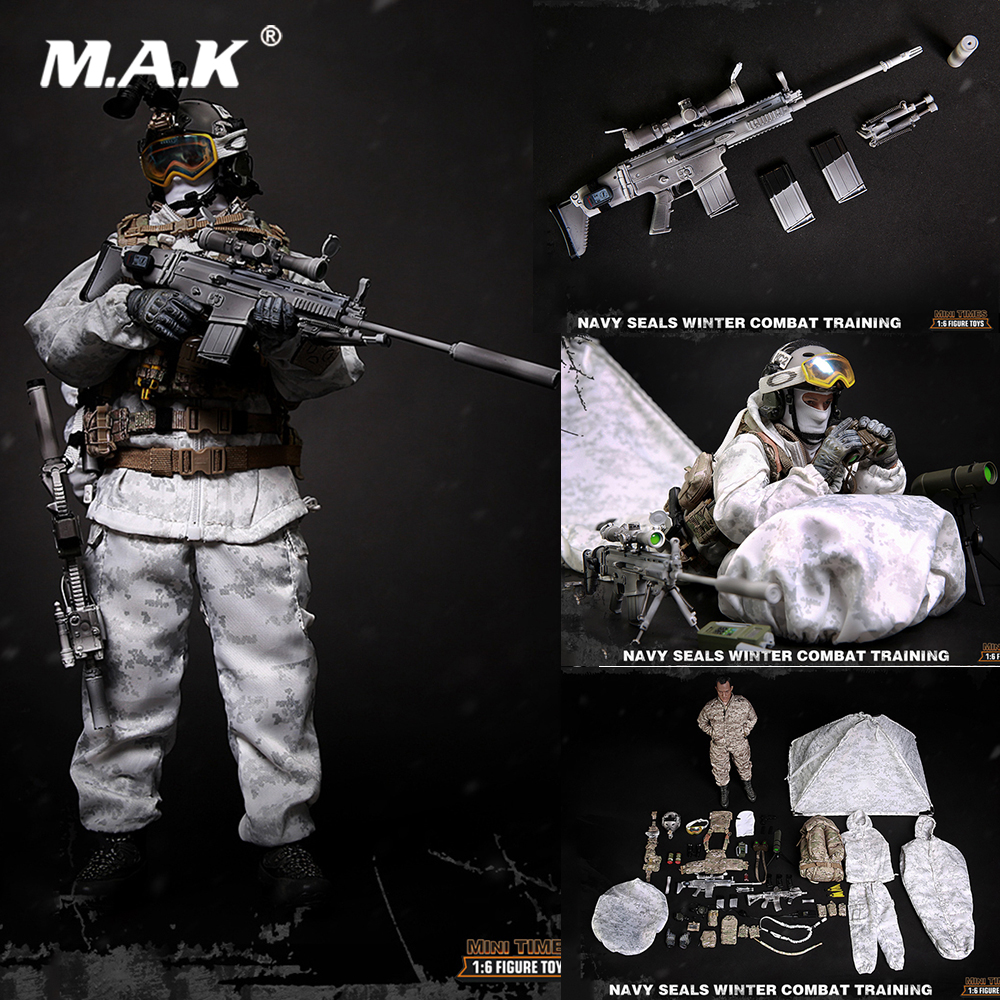Collectible 1/6 Scale M011 Navy Seals Winter Combat Training Male Full Set Action Figure Model Toys for Fans Gift collectible model toys 1 6 scale male full set action figure cowboy light coat ver doc holliday rm012 box set figure