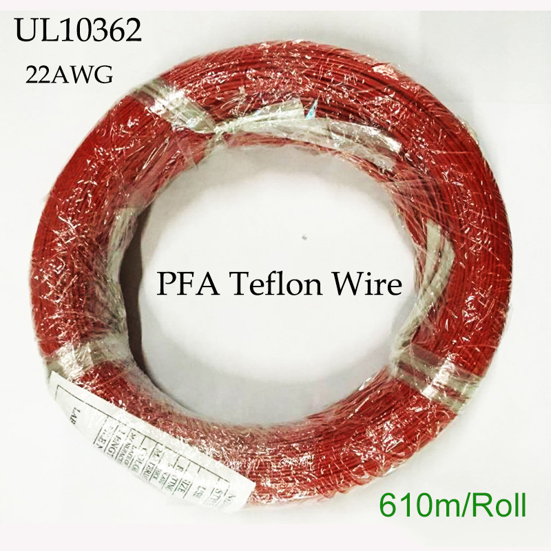 UL10362 22AWG PFA Teflon Wire 600V Tinned Copper Electrical Wire Lighting and Cooking Machine Cable 250C