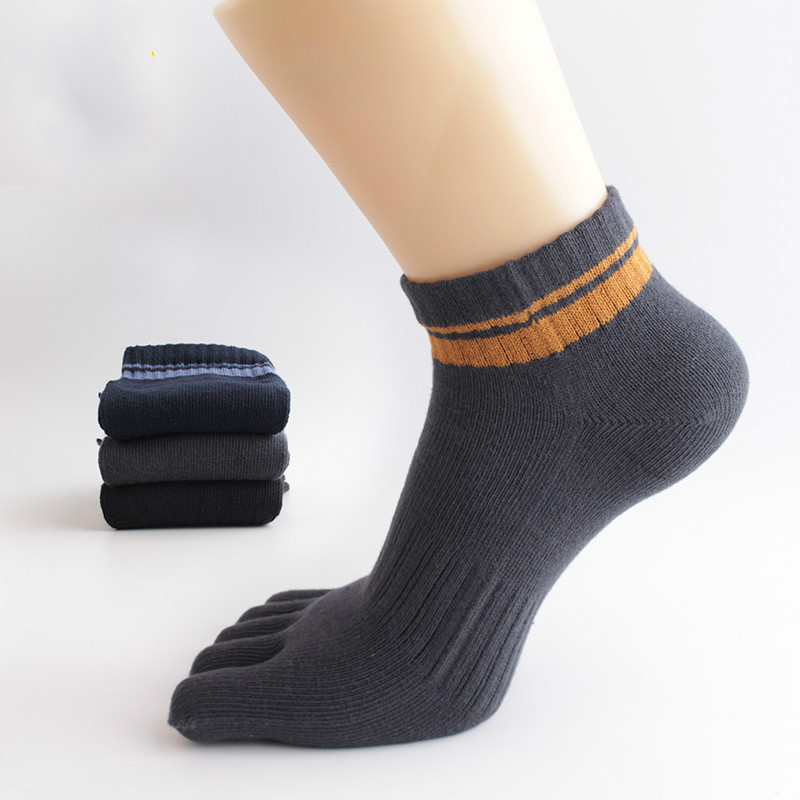 6 Pairs/Lot Winter Cotton Men Toe Socks Fashion breathable Man Casual Toes Ankle crew socks for men gift S008