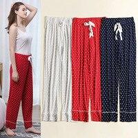 RenYvtil Lady's Long Pure Cotton Women Sleep Bottoms Women's Lightweight Modal Soft Pajama Sleep Wear Pants Warm Cozy Summer