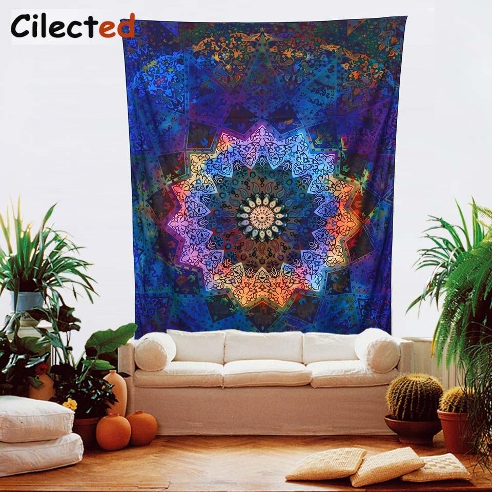 Geometric Home Decor: Cliected Bohemian Mandala Tapestry Wall Hanging Home Decor