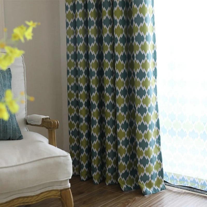 rideaux occultants a motifs geometriques de style nordique pour salon chambre a coucher traitement de fenetre pastorale draperies transparentes