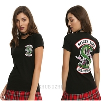 Girls Fashion Brand Tops Summer Style Female T Shirt Riverdale South Side Serpents T Shirt For