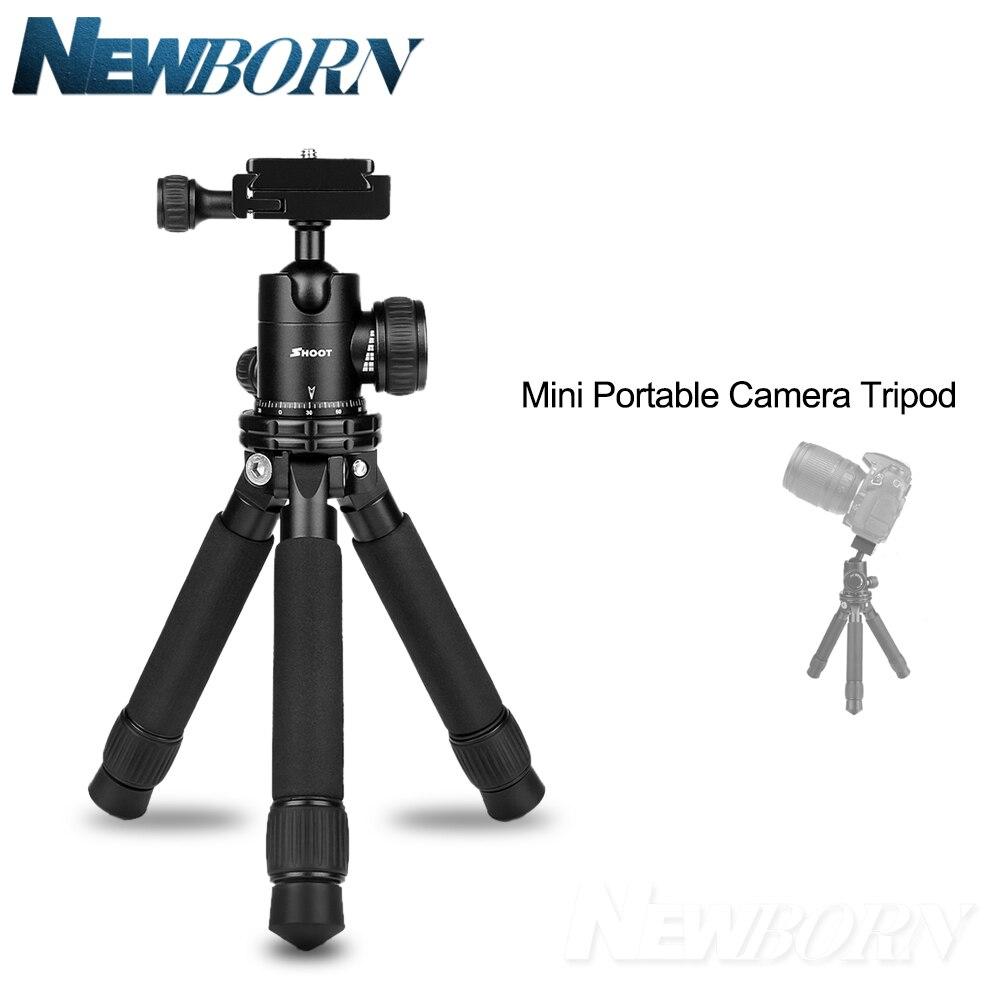 Mini trépied d'appareil-photo Portable Profession trépied de bureau de table Stable réglable pour Canon Nikon Sony