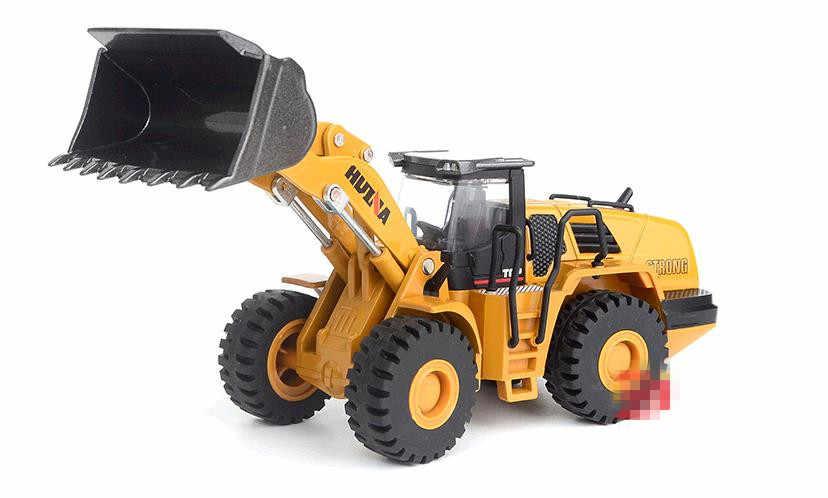 Simulasi Tinggi Paduan Kendaraan Rekayasa Model 1: 50 Loader Sekop Truk Mainan Coran Logam, mainan Kendaraan Gratis Pengiriman