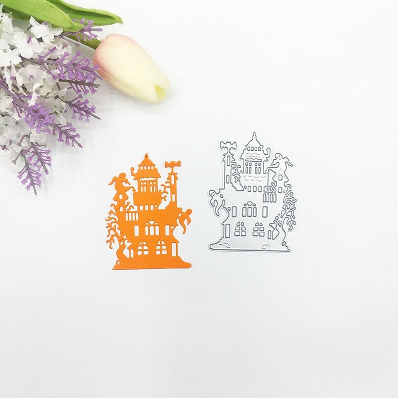 Julyarts 2019 Helloween House Ghost Metal Cutting Die for Scrapbooking Wedding Card Making Crafts Gift Cut Stitch