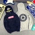 Caixa de Corações Pêssego Thrasher Hoodies Para Homens Mulheres Skatebaord Cinza Estilo Casais de Lã homem Camisola roupas de Marca Streetwear