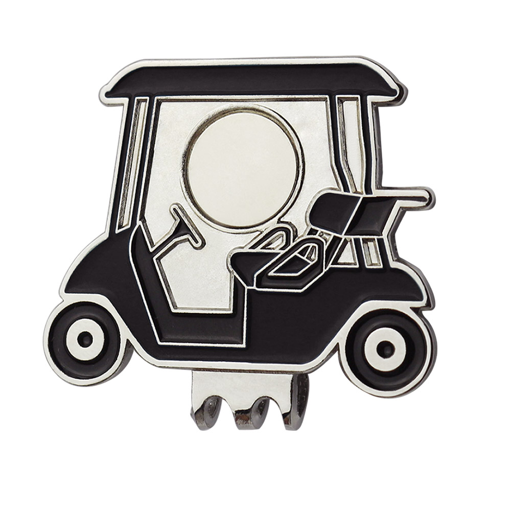 PINMEI Golf Hat Clips Cap Clips Golf Cart Pattern Golf Ball Mark Holder Pack Of 5