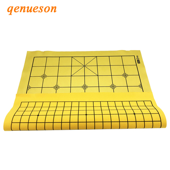 New Hot High Quality collapsible fasion leather chess board Chess cloth without piece Chinese chess go game board games qenueson high quality vintage decor craft chinese antique figurines chess set miniature chess travel games draughts gifts for lovers