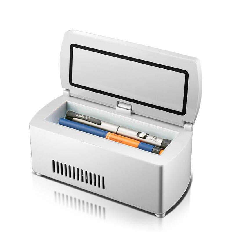 KEMIN 5L Mini Frigo Rapid Refrigerazione Portatile Auto Insulina Medicina Droga Freezer Frigorifero Display A LED di Controllo della Temperatura