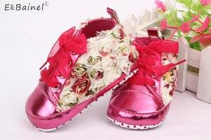 Kwiatowe dziecięce buty dziewczęce maluch niemowlę chrzciny koronkowe zasznurowane dziecięce mokasyny noworodek dziewczynka chrzest buty w kwiaty