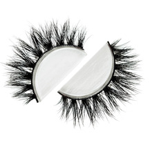 Free shipping in stock lilly mykonos 100% real handmade siberian mink fur strip lashes 3d d008 mink eyelashes