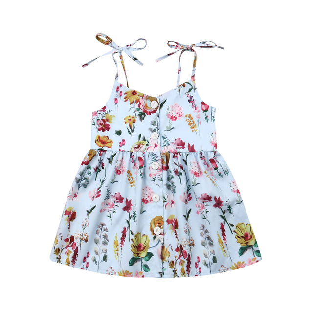 993d9779c Toddler Kid Baby Girl Dress Summer Floral Clothes Flower Princess Party  Dress Sundress Cotton Baby Dresses Wedding Clothing