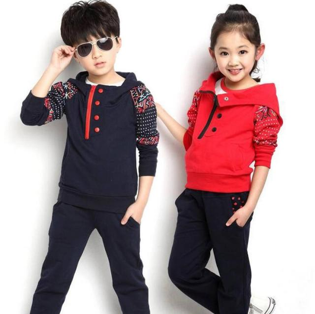 Two-piece Disfraz Infantil Spring Autumn Sets Of Clothes For Girls And Boys 2016 New Children 's Sweater Suit Folk-custom