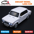 Vaz Model Car, 1: 32 Scale Lada Diecast Car, Alloy Toys for Kids Boys, Metal Model With Sound/Light/Pull Back Function