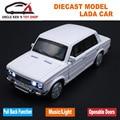 Vaz Modelo de Coche, 1: 32 Escala Diecast Car Lada, aleación toys for kids boys, Modelo de Metal Con Sonido/Luz/Tire Hacia Atrás la Función