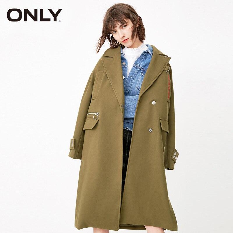 فقط الخريف معطف المرأة فضفاض مستقيم صالح المطرزة طويل السيدات معاطف  118136525-في معطف مبطن من ملابس نسائية على  مجموعة 2