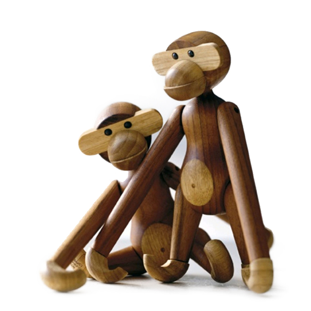 2019 New Creative Puzzle Wooden Monkey Toys Figurine Art Home Decoration Different Poses Monkey Crafts