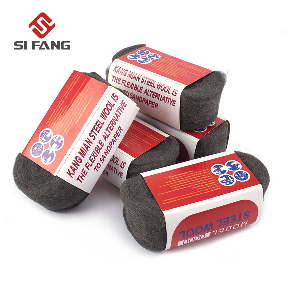 1Pc Steel Wire Wool Grade 0000#- 3# For Polishing Cleaning Paint Rust Removing 4m