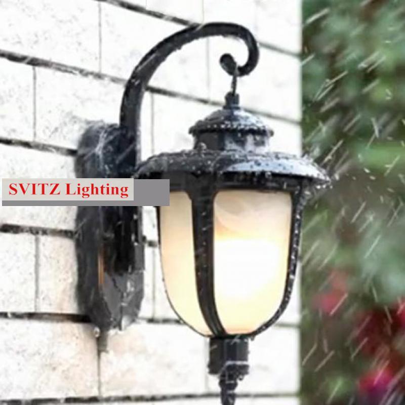 Дорожки двор водонепроницаемый настенные светильники крыльцо Открытый Бра кантри терраса бра сад наружного освещения