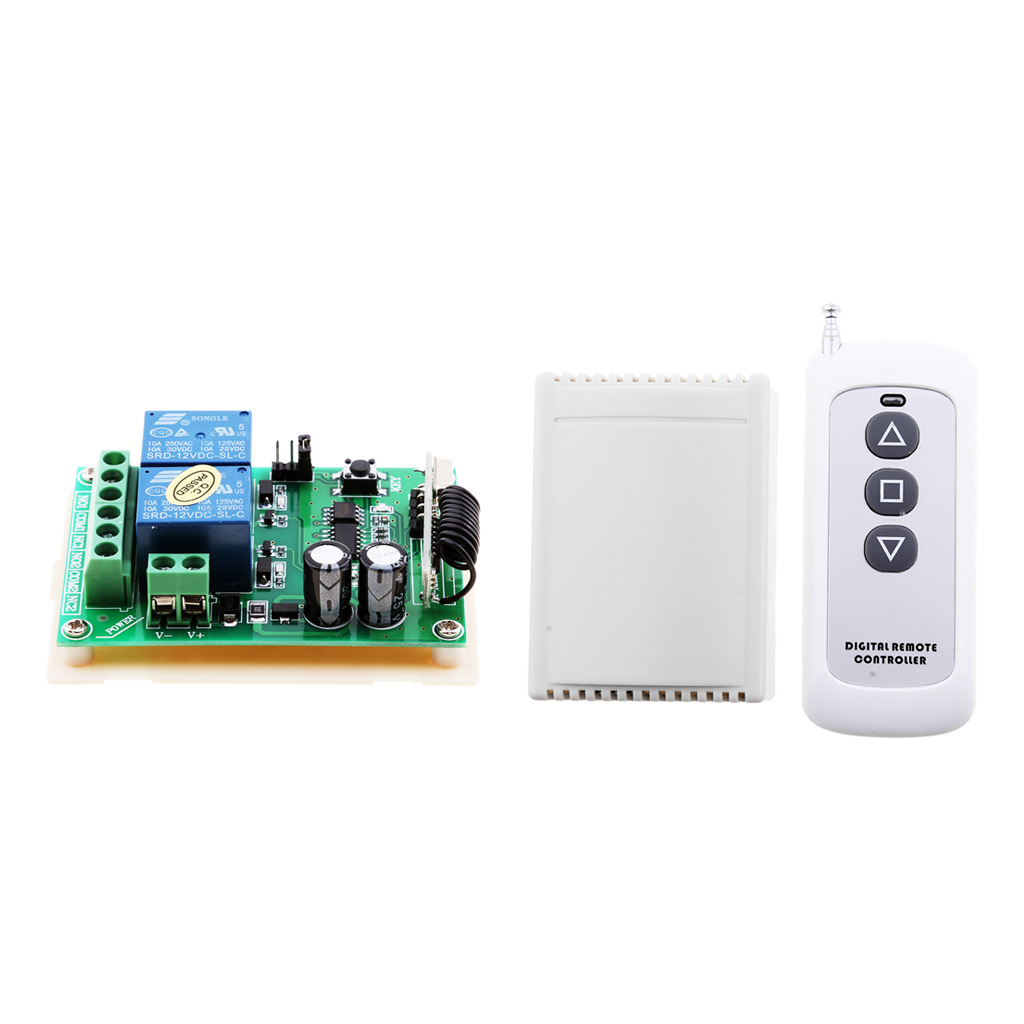 US $14 8 22% OFF|DC 12V 2CH 315MHZ Wireless Remote Control Relay Switch for  Barrier Gate, Doors-in Switches from Lights & Lighting on Aliexpress com |