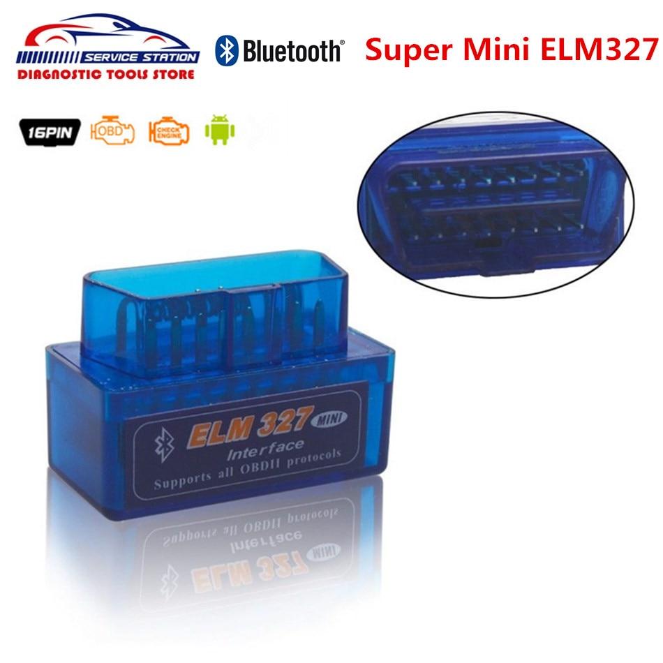 Best V1.5 סופר מיני ELM 327 על אנדרואיד obd2 רכב סורק מיני ELM327 Bluetooth תמיכה obd2 פרוטוקולים עם ביצועים גבוהים