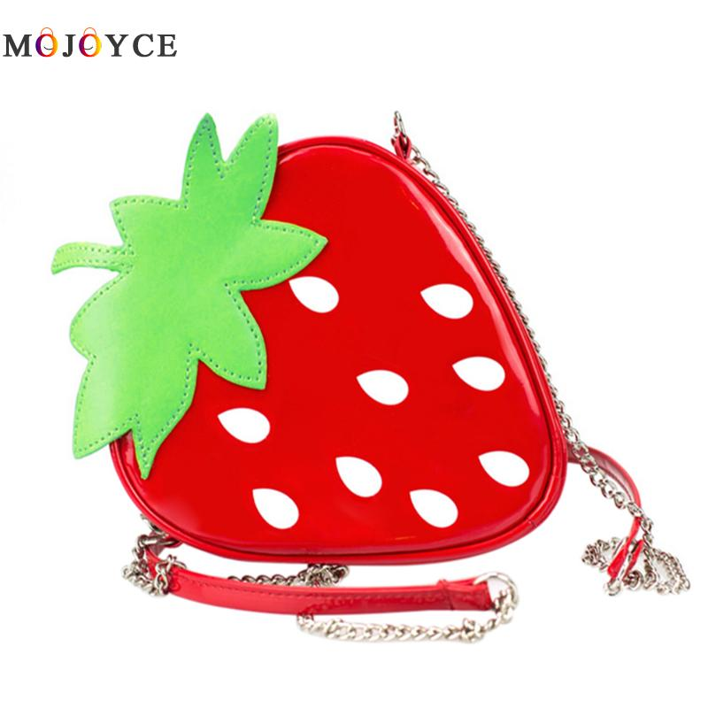 Strawberry Pattern Crossbody Bag New Fashion Shoulder Mini Bags for Women Cute Ladies Female Messenger Bags Satchel Purse qzh 2017 summer kids girls messenger bags cartoon mini cute school bag children handbag girl shoulder bag women crossbody bags