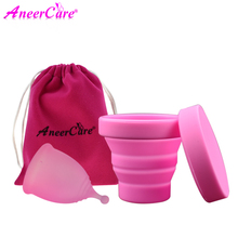 2 Pcs Lady Menstrual Cup For Women Menstrual Care Collector Menstrual Cup Sterilizer Silicone Copa Menstrual Sterilizer Coletor недорого