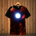 2017 Wholesale Marvel's The Avengers Super Hero T-Shirt Iron Man T Shirt 3D Printed tshirt Men Polyester Short Sleeve Top Tees