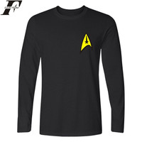 Star Trek Long T Shirt Men Hip Hop Star Trek Long SleeveT Shirts And Star Trek
